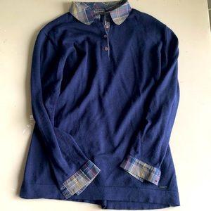 Barbour merino wool sweater size L